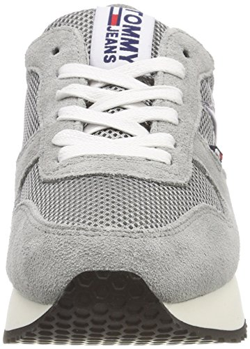 Hilfiger Denim Damen Tommy Jeans Star Sneaker Grau (Light Grey 004)