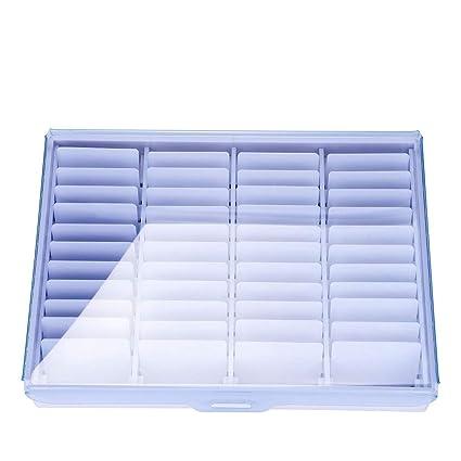 Caja de almacenamiento para uñas, 44 unidades, de alta gama, para decoración de uñas, uñas falsas, uñas postizas ...