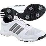 adidas Men's Tech Response 4.0 Golf Shoe,White/White/Dark Silver Metallic,10.5 M US