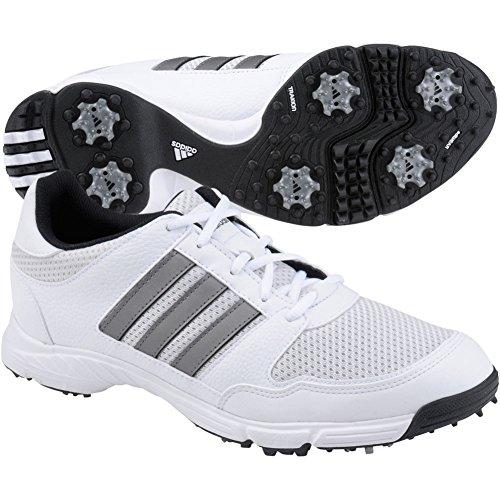 adidas Men's Tech Response 4.0 Golf Shoe, Iron/White/Black,
