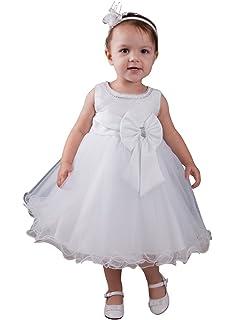 d4316bb511e4a Boutique-Magique Robe de baptême bébé Fille Blanche  Amazon.fr ...