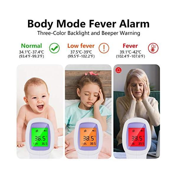Thermomètre infrarouge pour adultes, thermomètre frontal numérique infrarouge sans contact pour fièvre, thermomètre…