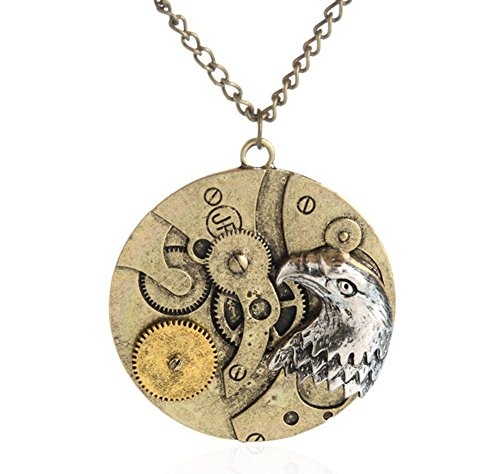 Tian qi eagle pattern pendant necklace jewelry retro steampunk