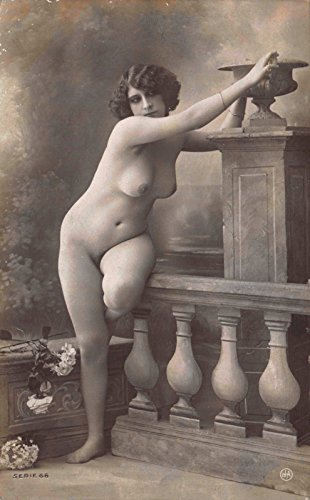 Real Photo Postcard of a portrait of Nude Topless Woman in Photo - Shipping Worldwide Usps Rates
