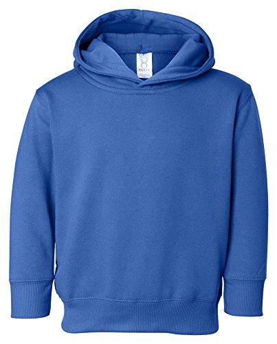 Rabbit Skins Toddler Pockets Fleece Hooded Sweatshirt, Royal, - Toddler Rabbit Sweatshirt Skins