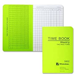 Wilson Jones Foreman\'s Pocket Size Time Books (S802)