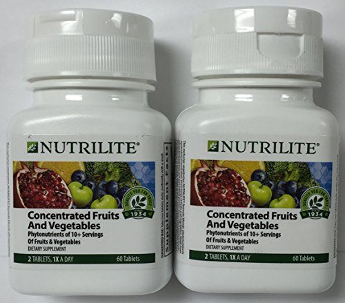 2 PACK Nutrilite Concentrated Fruits and Vegetables - Tablets - 60 Count 60 ()