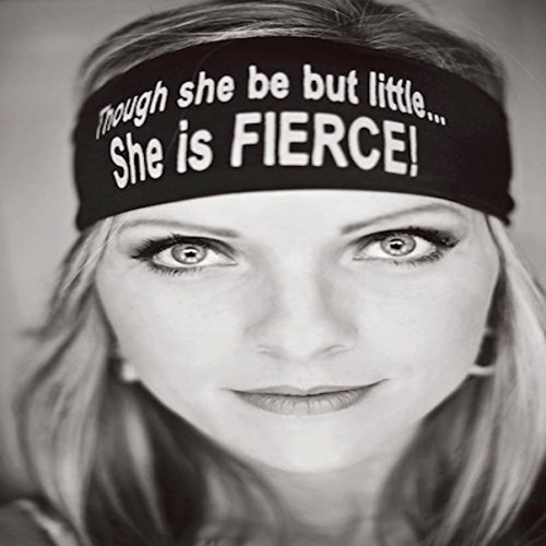 She Is Fierce. Black headband with white letters. Headbands By Hippie Runner. The #1 Choice For Athletes! No Slip, No Drip Headbands For Running, Walking, Exercise Or Fashion!