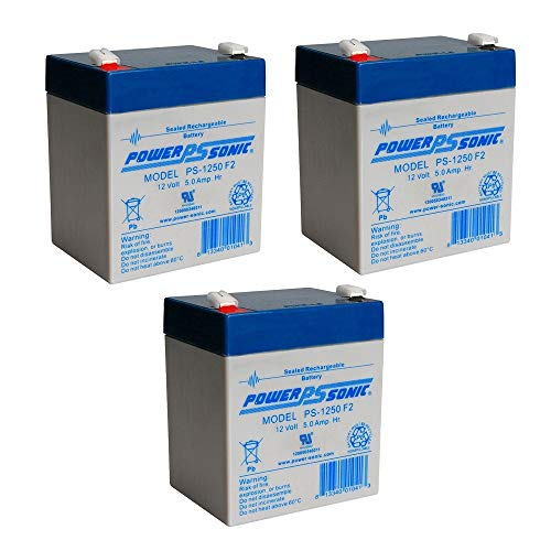 Powersonic 12V 5Ah UPS Backup Battery Replaces Amstron AP-12