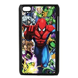 Custom Spider Man Back Cover Case for ipod Touch 4 JNIPOD4-235