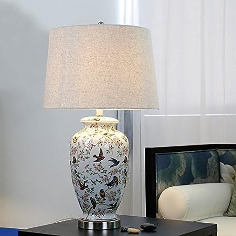 SDKKY Lámpara de mesa de cerámica de alta calidad, American ...