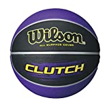 Wilson Clutch Purple/Black Basketball, Official Size