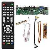 Tebatu TV Controller Driver Board PC/VGA/HDMI/USB Interface + 7 Key Board Kit