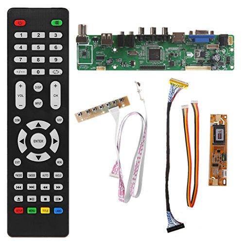 Kalttoyi V56 LCD TV Controller Driver Board PC/VGA/HDMI/USB Interface + 7 Key Board Kit