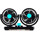 12V Car fan / 24V truck fan / dual fan car dedicated / portable fan ( Style : 12V )