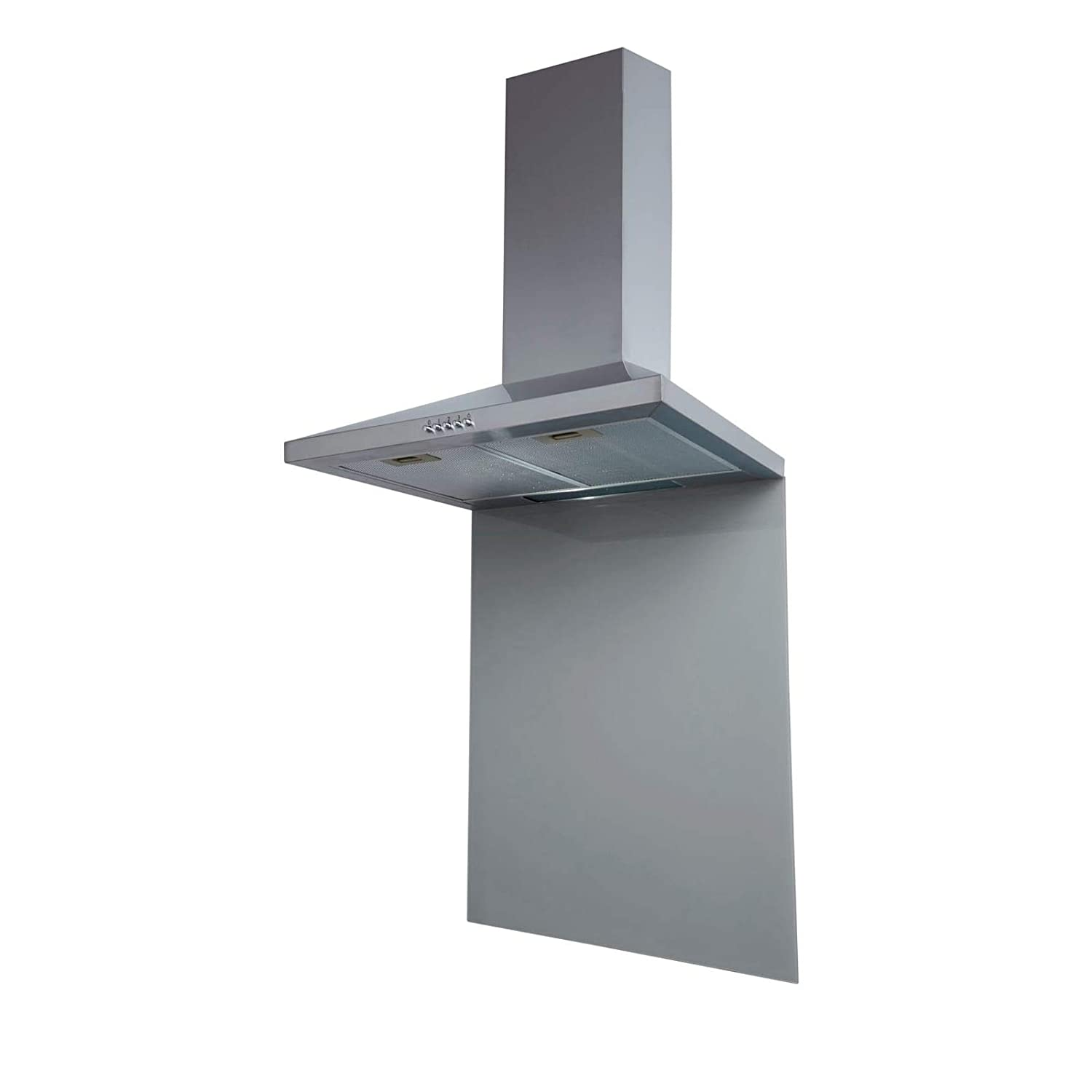 SIA SP70GY 70cm x 75cm Grey Toughened Glass Kitchen Splashback