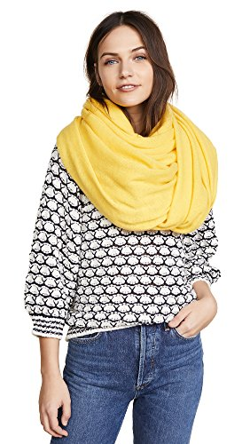 White + Warren Women's Travel Wrap Scarf, Saffron, One Size by White + Warren