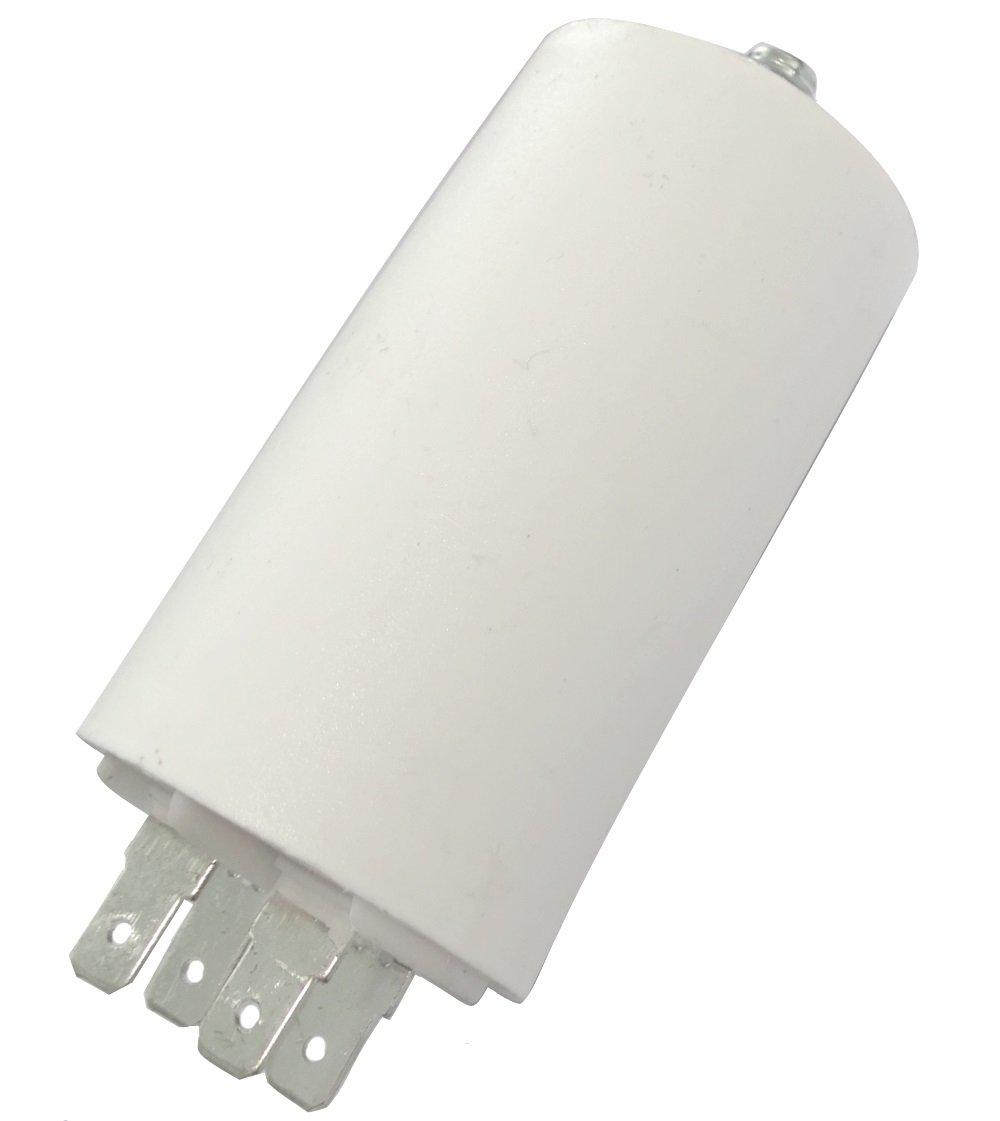Aerzetix: Condensateur permanent de travail pour moteur 16µ F 450V avec cosses Ø 40x70mm ± 5% 3000h C18683 C18683-AL672