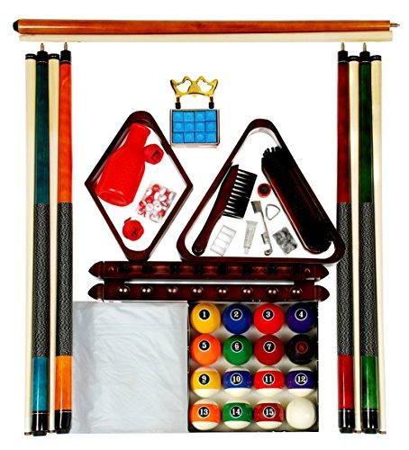 Modern Style Ball Set (Billiard Pool Table Accessory Kit W/ Modern Style Ball Set Mahogany Finish)