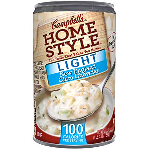 New England Clam Chowder - Campbell's Homestyle Light New England Clam Chowder, 18.8 oz. (Pack of 12)
