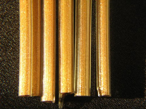 Devardi Glass Lampwork, Beadmaking Glass Rods, Clear Encased Goldstone, 1/4 lb