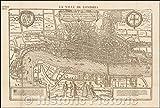 Historic Map  La Ville De Londres. Londinum Feracissimi Angliae Regni Metropolis La Ville de Londres. London England Kingdom metropolis Feracissimi 1575  Vintage Wall Art 44in x 30in