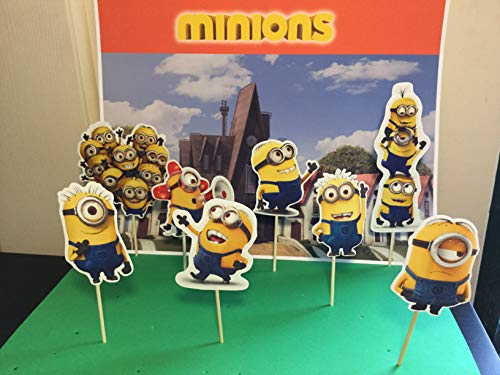 Minnions cupcake topper, party solution decoration, cupcaketoppers ()