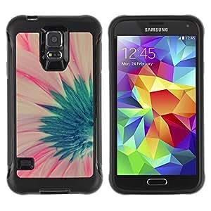 LASTONE PHONE CASE / Suave Silicona Caso Carcasa de Caucho Funda para Samsung Galaxy S5 SM-G900 / flower green pink spring floral petal