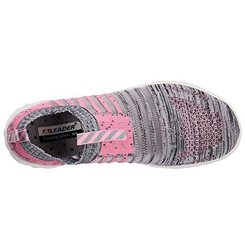 Scarpe Da Acqua Slip-on Hydro Lite-knit Donna Aleader Rosa / Grigio