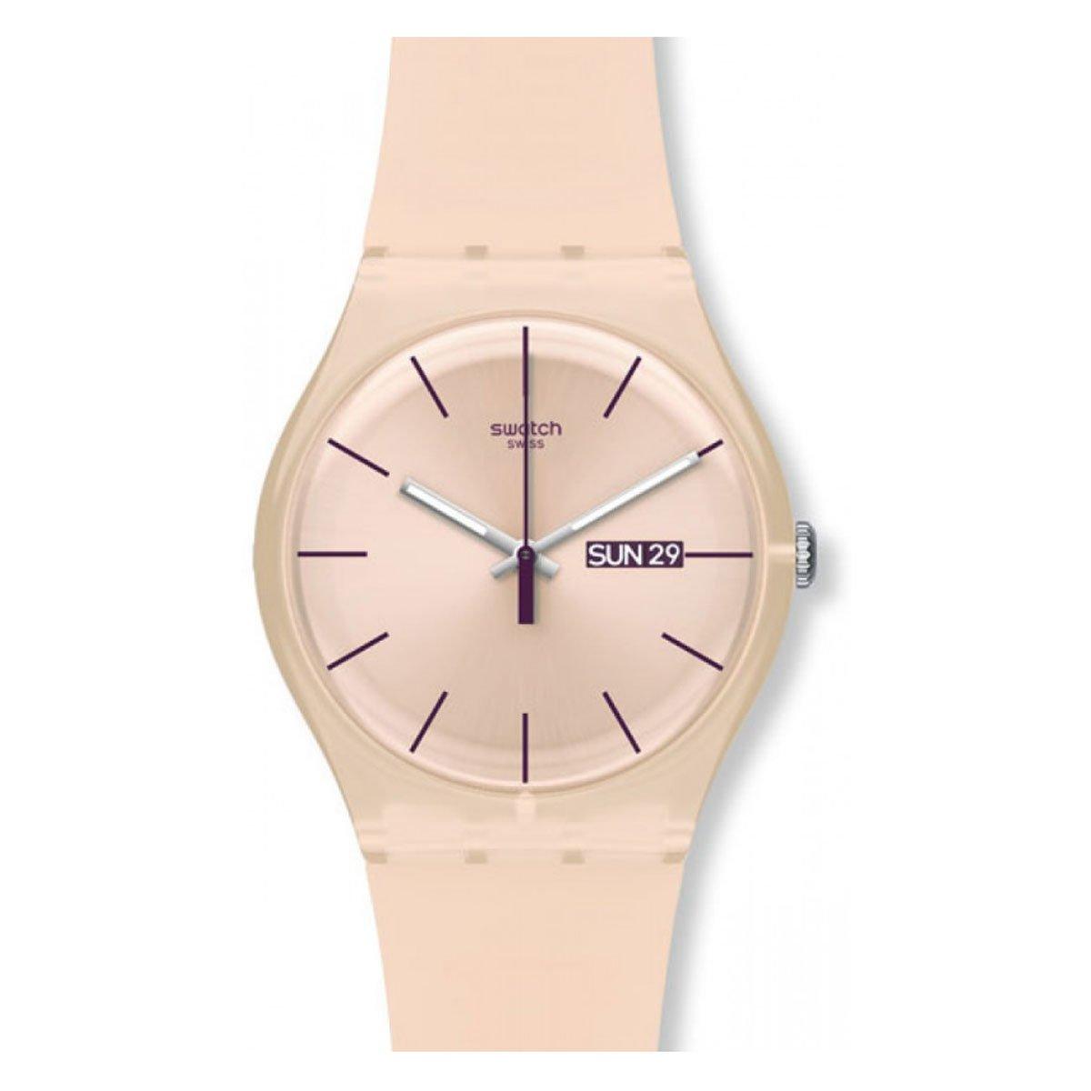 Swatch Reloj Analógico de Cuarzo para Mujer con Correa de...