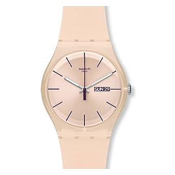 Swatch Reloj Analógico de Cuarzo para Mujer con Correa de Silicona - SUOT700: Amazon.es: Relojes