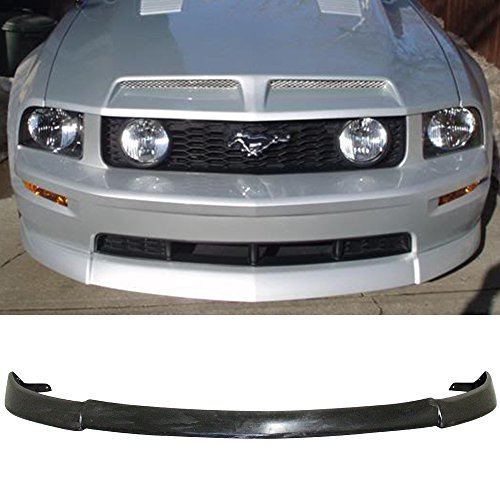 Front Bumper Lip Fits 2005-2009 Ford Mustang | CV Type 2 Style Black Urethane PU Guard Protection Finisher Under Chin Spoiler by IKON MOTORSPORTS | 2006 2007 ()