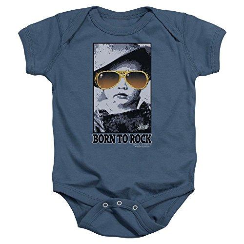 Elvis - Born To Rock Infant T-Shirt In Indigo, 0-6 Months, Indigo (Elvis Onesie)