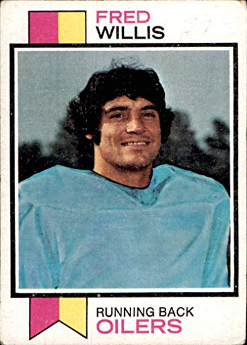1973 Topps #396 Fred Willis HOUSTON OILERS (poor due to light writing) Boston College Eagles Vintage
