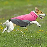 Clan-X Dog Raincoat Waterproof Lightweight & High Visibility Dog Coat Jacket for Small Medium Large Dogs(Pink M)