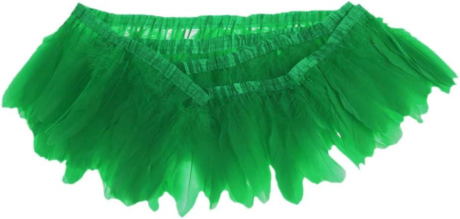 Rouge IPOTCH Ruban de Franges Bordures /à Franges Plume Accessoires de Danse Tahitienne Orientale Tribal Mode Beaut/é 2M