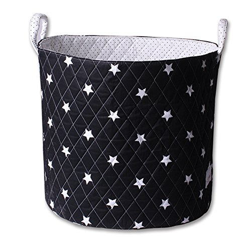 Minene Storage Basket (Large, Black with White Star) 21164