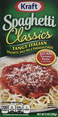 Spaghetti Dinner - Kraft Foods Classics Tangy Italian Spaghetti, 8.0 Ounce (Pack of 12)