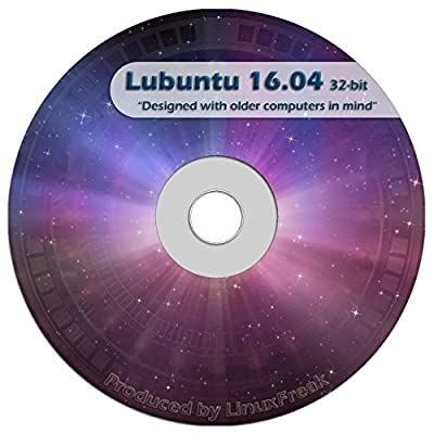 Lubuntu Linux 16.04 DVD - FAST Desktop Live DVD - Replace Windows XP - Official 32-bit Release