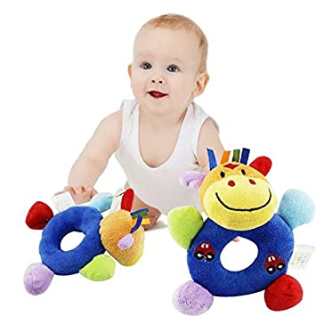 1PC Infant Baby Cute Bell Rattles Toy Newborn Baby Hand Play Toys Gift MW