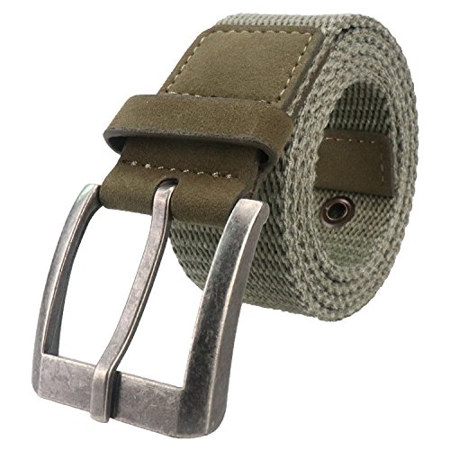 Men's Web Belt Breathable Military Tactical Canvas Casual Belt, Men Water-Washed Webbing Belt With Metal Buckle (Medium(31