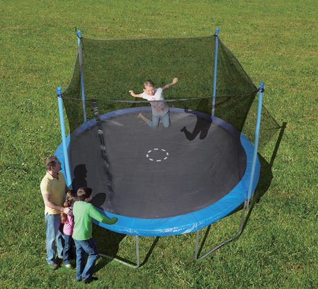 Trainor Sports 12-feet Round Trampoline & Enclosure Combo | Heavy Duty Bouncy Outdoor/Backyard Trampoline for Children (6+), Adults | Jumping Mat and Full Coverage Spring Padding product image