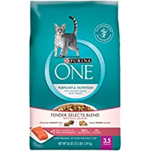 Purina ONE Tender Selects Blend With Real Salmon Adult Dry Food - (1) 3.5 lb. Bag