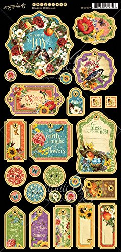 Graphic 45 Seasons Die-Cut Chipboard (Embellishments Chipboard Tags)