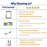 Fixcracked Touch Screen Replacement Parts Digitizer Glass Assembly for Ipad air 1st + WIFI Antenna Cable and Professional Tool Kit