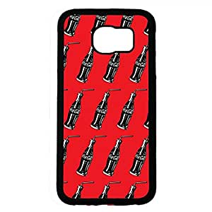 Coca Cola Bottle Phone Case Back Hard Plastic Case Cover For Samsung Galaxy S6,Black Phone Case For Samsung Galaxy S6