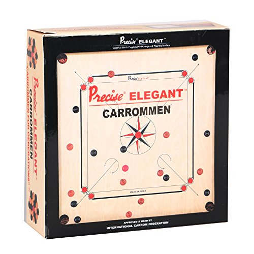 Precise KD Carrom Coins Carrommen Approved & Used by Carrom Federation of India, International Carrom Federation (Elegant C04) by Precise