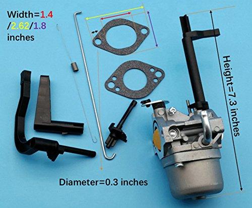 Tuzliufi Carburetor Carb Replace Craftsman 5600 Watts Generator 10hp GenTek OHV Engine Briggs and Stratton B and S Coleman Powermate 5000 6200 6250 Elite Troy-Bilt 5550 W 305 Repl. 591378 New Z11