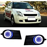 AupTech Innovative Super CCFL Angel Eye Fog Light DRL Exact-Fit Fog Bumper Cover with Projector Lens for 2006-2009 Suzuki Swift