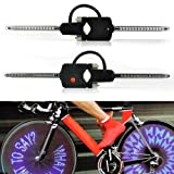 Glumes Bike Wheel Lights, Custom Message Wireless Waterproof Bicycle Spoke Light, 30 LED 49 Changes Modes Bicycle Rim Tire Lights for Mountain Bike/Road Bikes/BMX/Hybrid/Folding Bike Good Gifts (Blue)